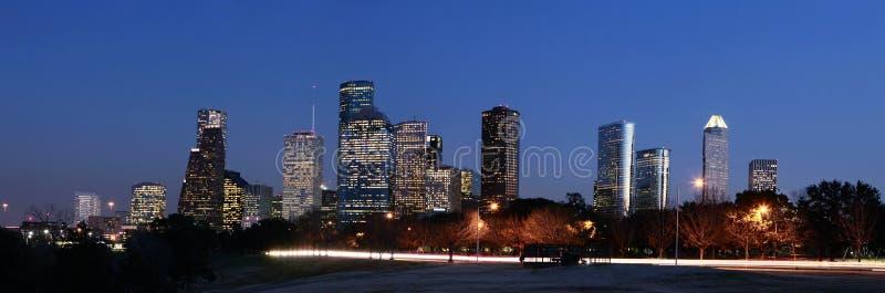 休斯敦晚上地平线 图库摄影