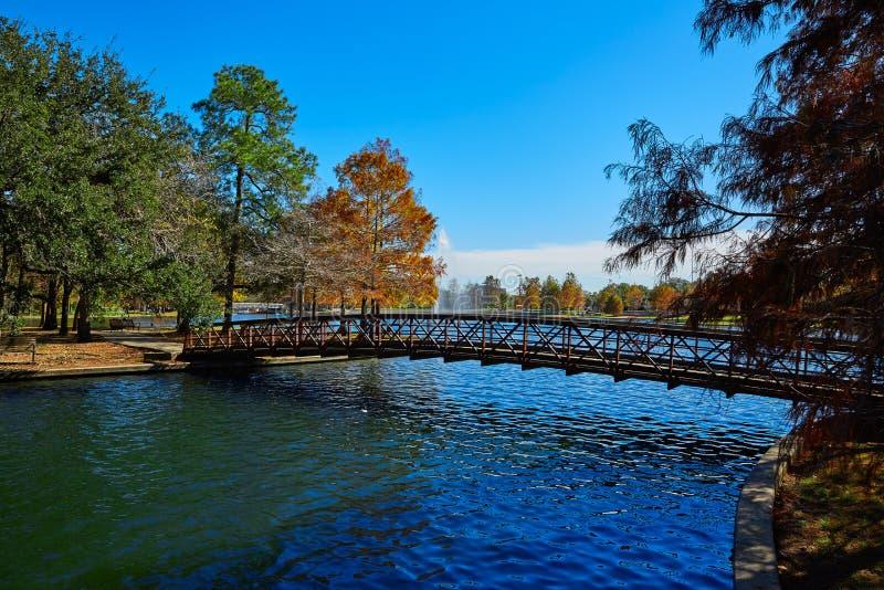 休斯敦赫尔曼公园Mcgovern湖 库存图片