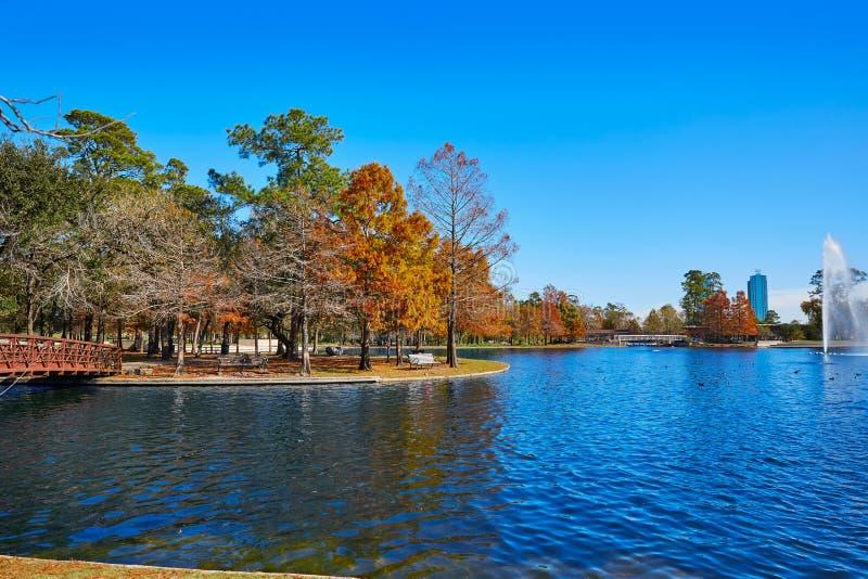 休斯敦赫尔曼公园Mcgovern湖 库存照片