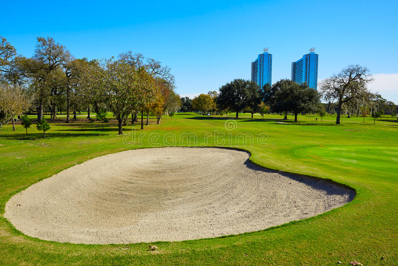 休斯敦高尔夫球场在赫尔曼公园 免版税库存图片
