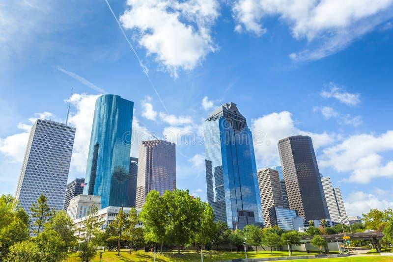 休斯敦,得克萨斯地平线  库存照片