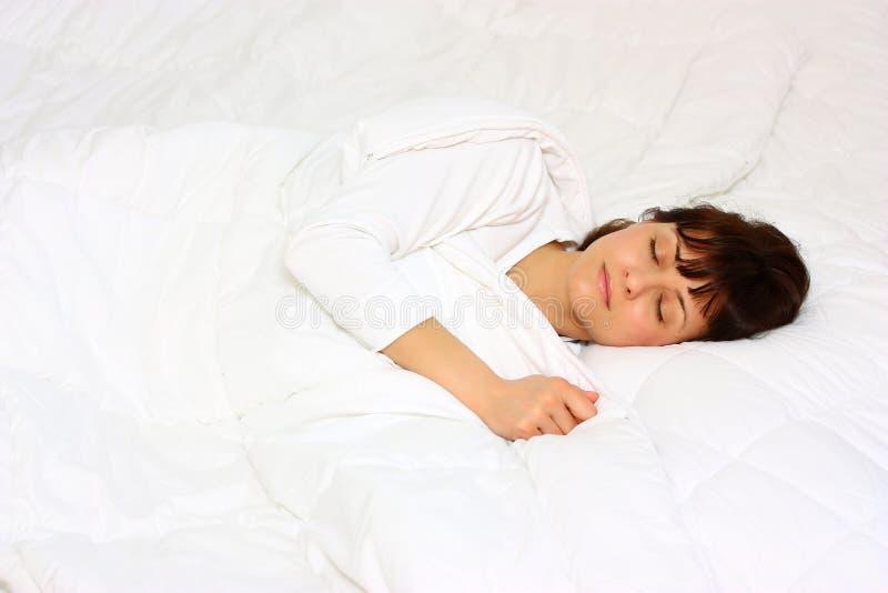 休眠妇女 免版税图库摄影