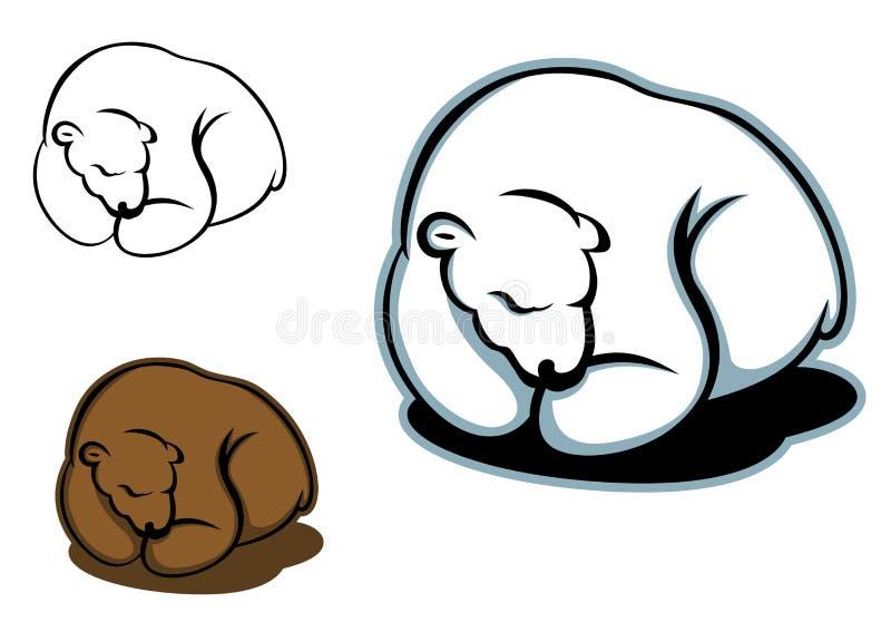 休眠熊 向量例证