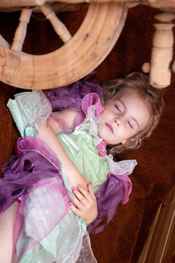 休眠的公主的传说 免版税库存图片