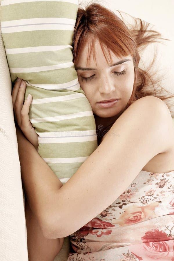 休眠的妇女 库存图片