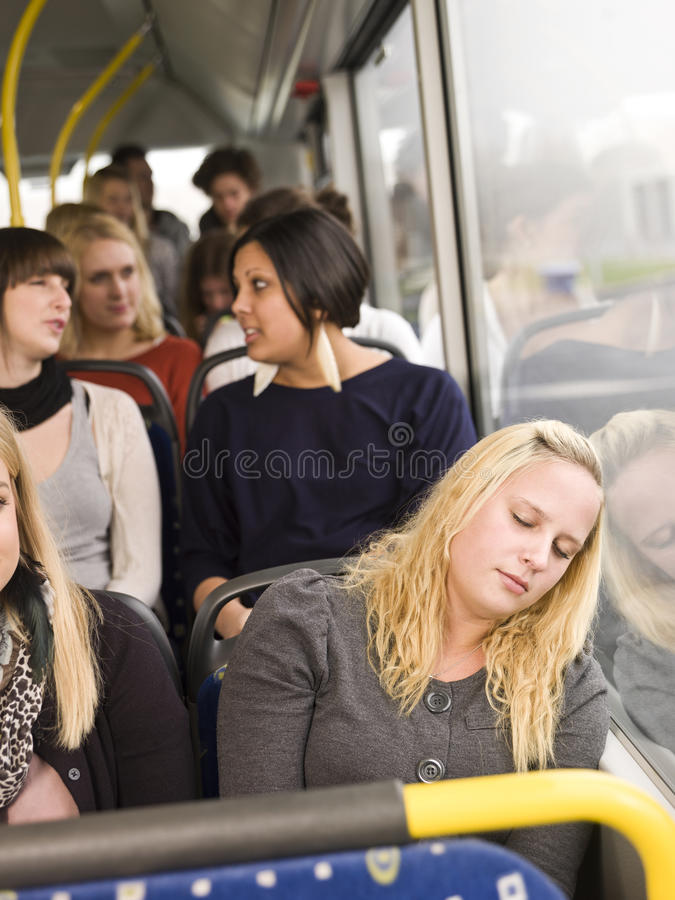 休眠的妇女 免版税库存照片