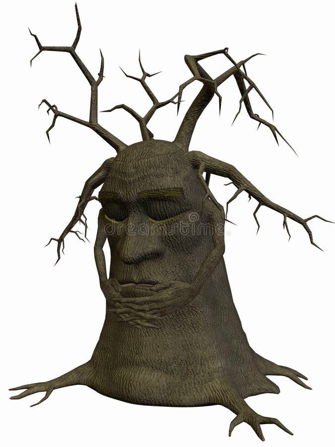 休眠结构树 向量例证