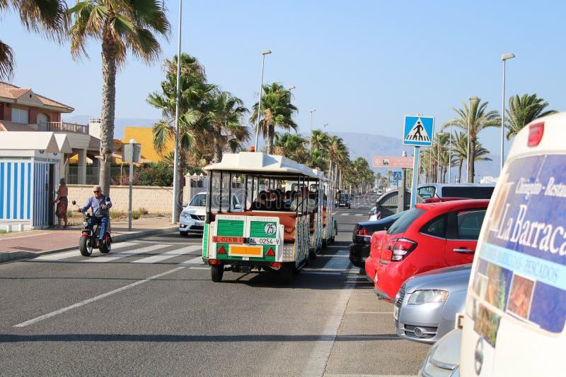 休闲和旅游业乐趣地方在罗克塔斯德马尔,西班牙 免版税图库摄影