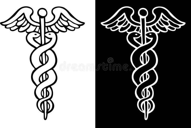 众神使者的手杖符号 向量例证