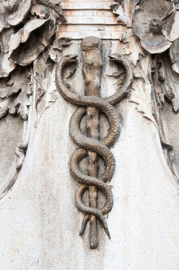 众神使者的手杖 图库摄影