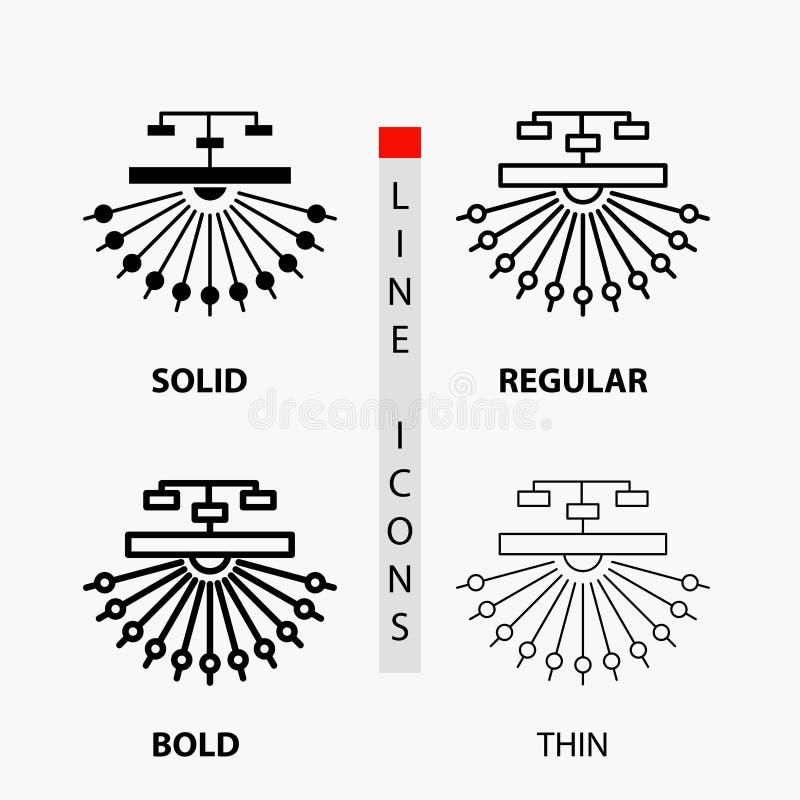优化,站点,站点,结构,在稀薄,规则,大胆的线和纵的沟纹样式的网象 r 库存例证