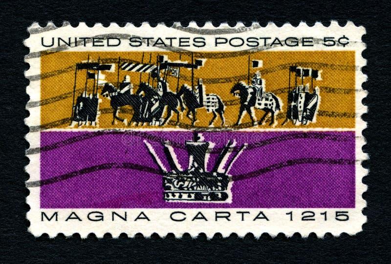 优秀大学毕业生Carta美国邮票 免版税库存图片