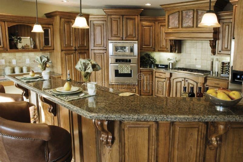 优等的内部厨房 免版税图库摄影