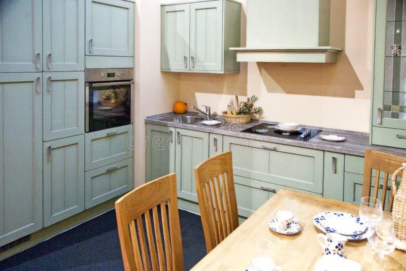 优等的厨房内部细节 免版税库存图片