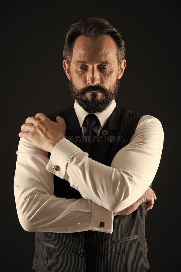 优等的商人 在优等的穿戴的老商人 优等在样式 优等和典雅的商人 商人用于  免版税库存图片