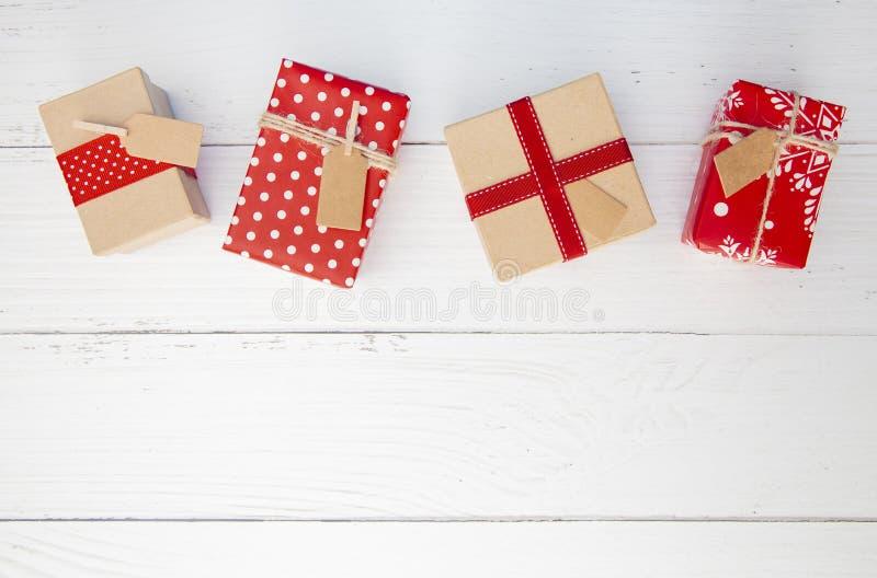 优美地被包裹的礼物线  免版税图库摄影