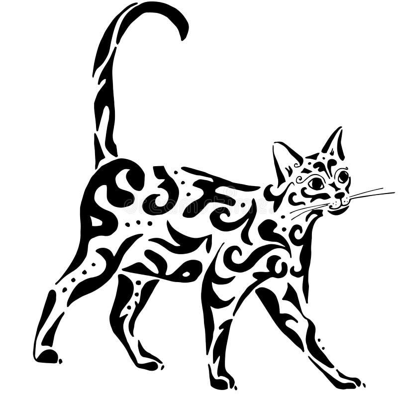 优美的埃及猫 向量例证