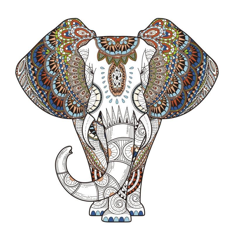 优美的大象 向量例证