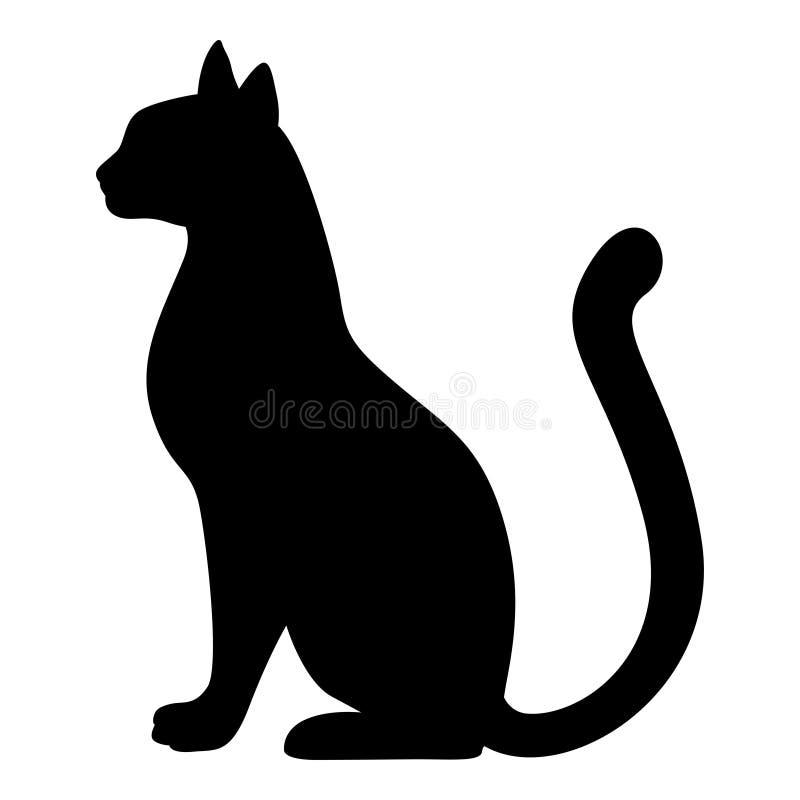 优美的猫剪影  库存例证