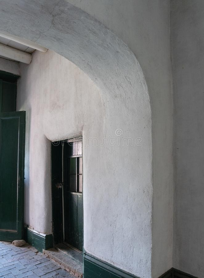 优美的线,室外走廊 免版税图库摄影
