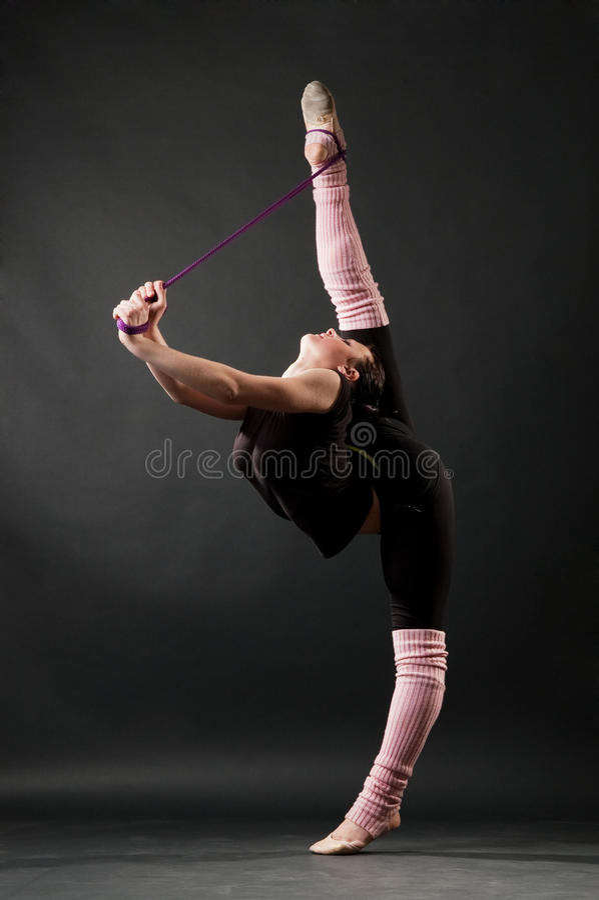优美的舞蹈演员 免版税库存图片