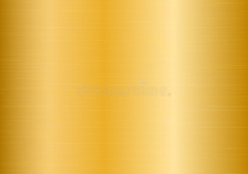 优美的金子梯度 库存例证