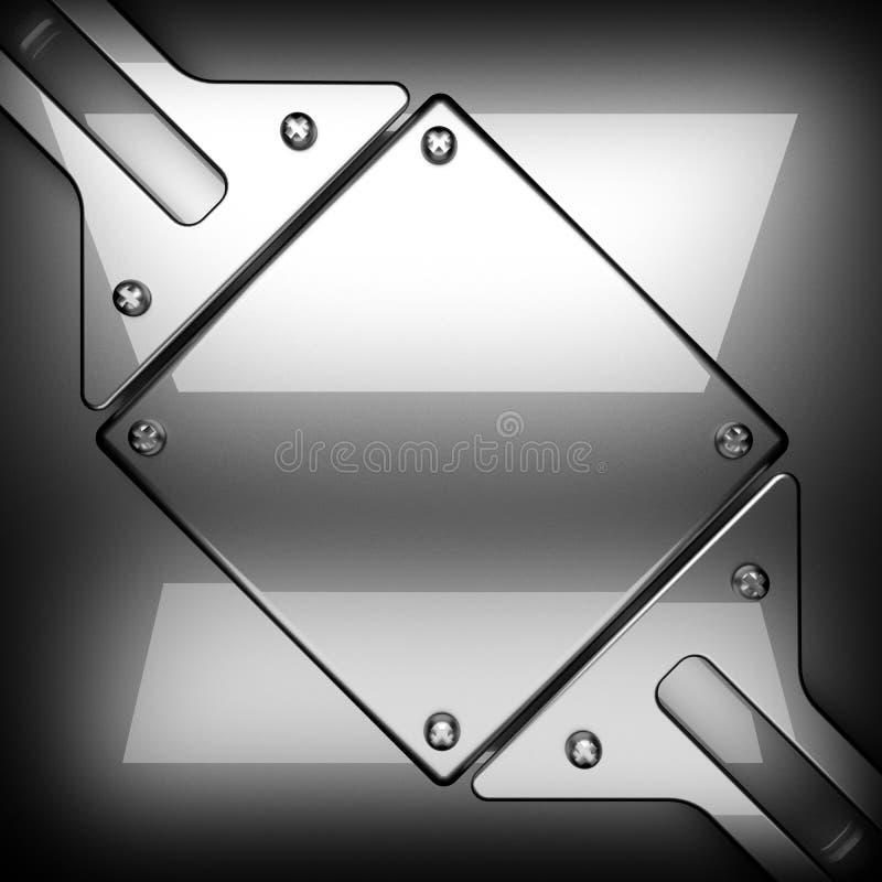 优美的金属背景 3d查出被回报的视频空白世界 库存例证