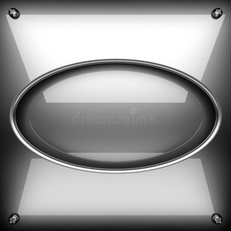 优美的金属背景 3d查出被回报的视频空白世界 皇族释放例证