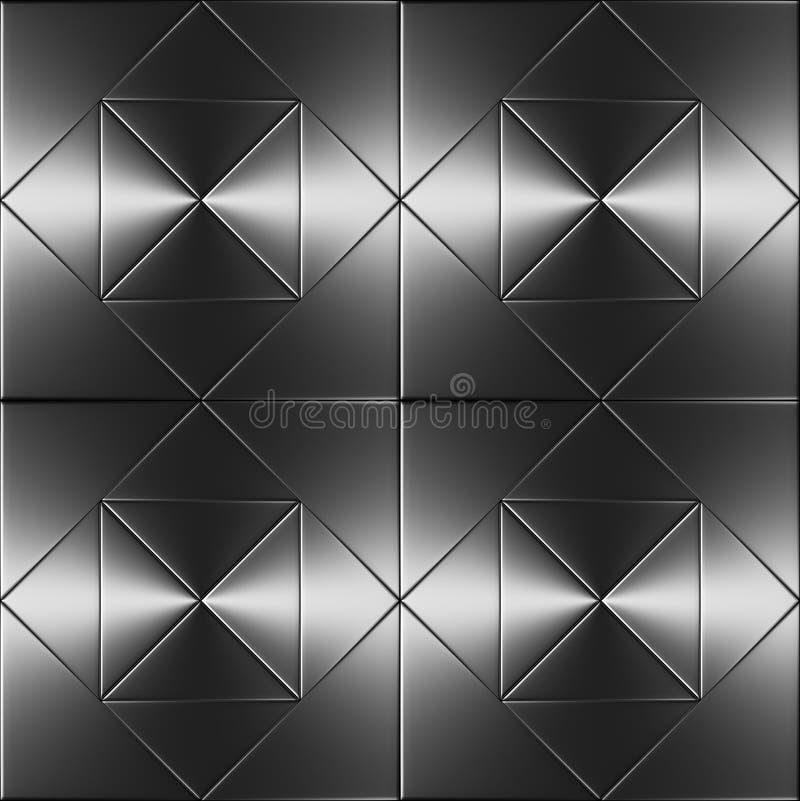 优美的钢地板无缝的纹理背景 向量例证