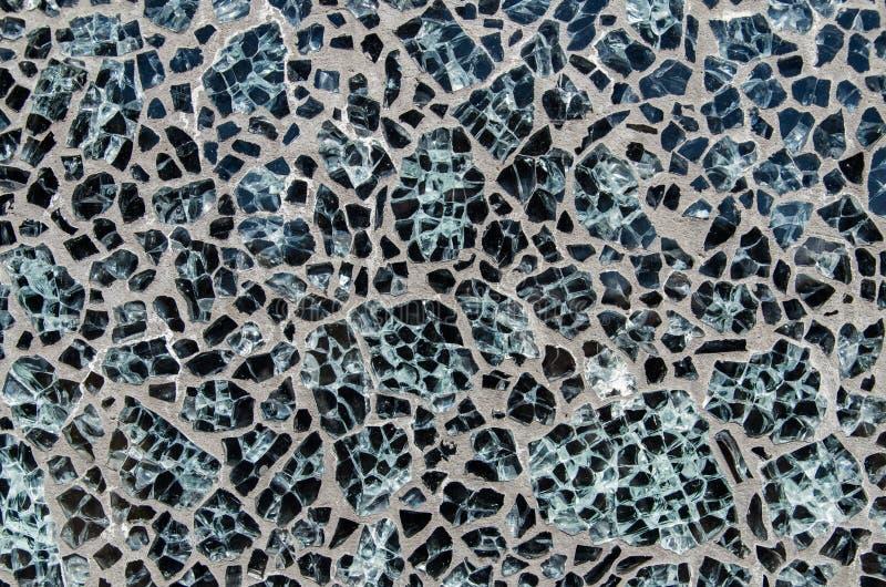 优美的黑石头背景在水泥或混凝土设置了 库存照片