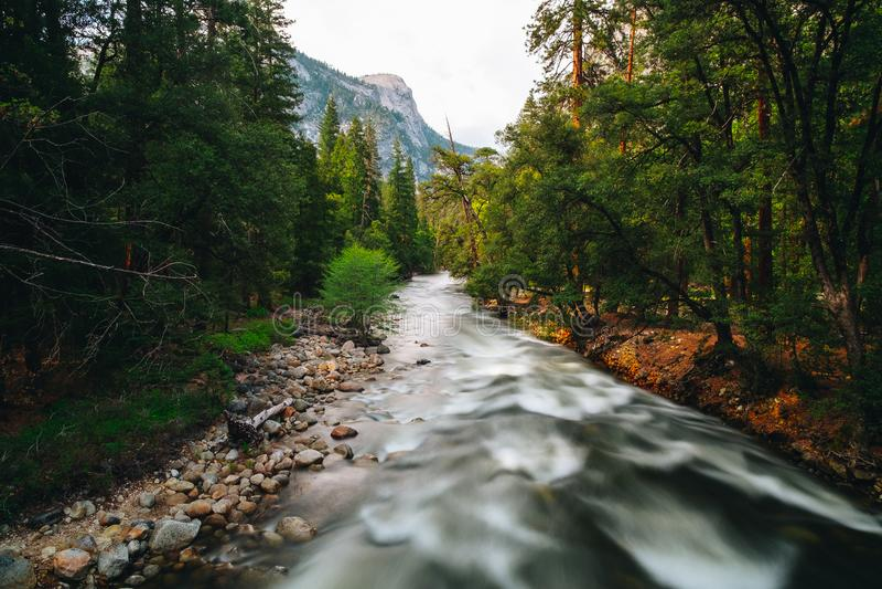 优胜美地国家公园是美国国家公园 库存图片