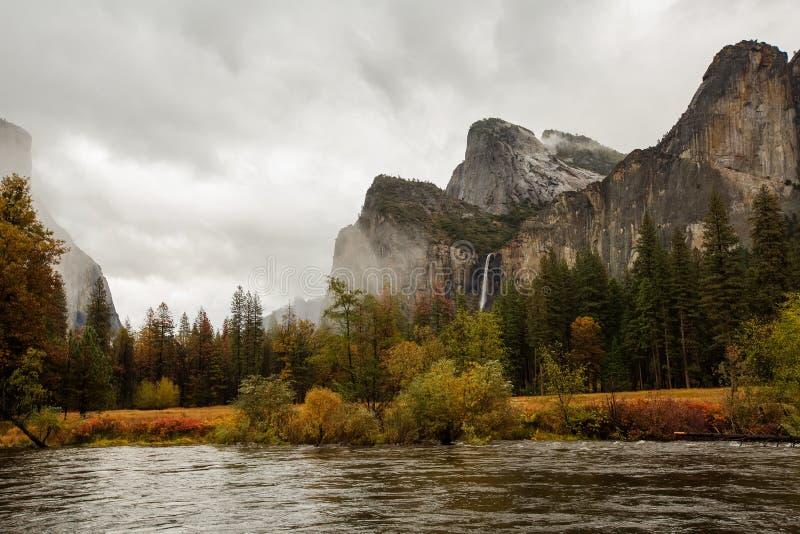 优胜美地国家公园的壮观的看法 免版税图库摄影