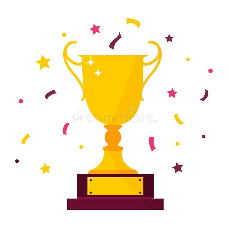 优胜者奖觚 第一件地方冠军战利品 向量例证