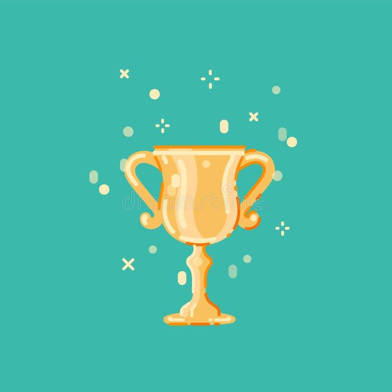 优胜者杯子平的设计 向量例证