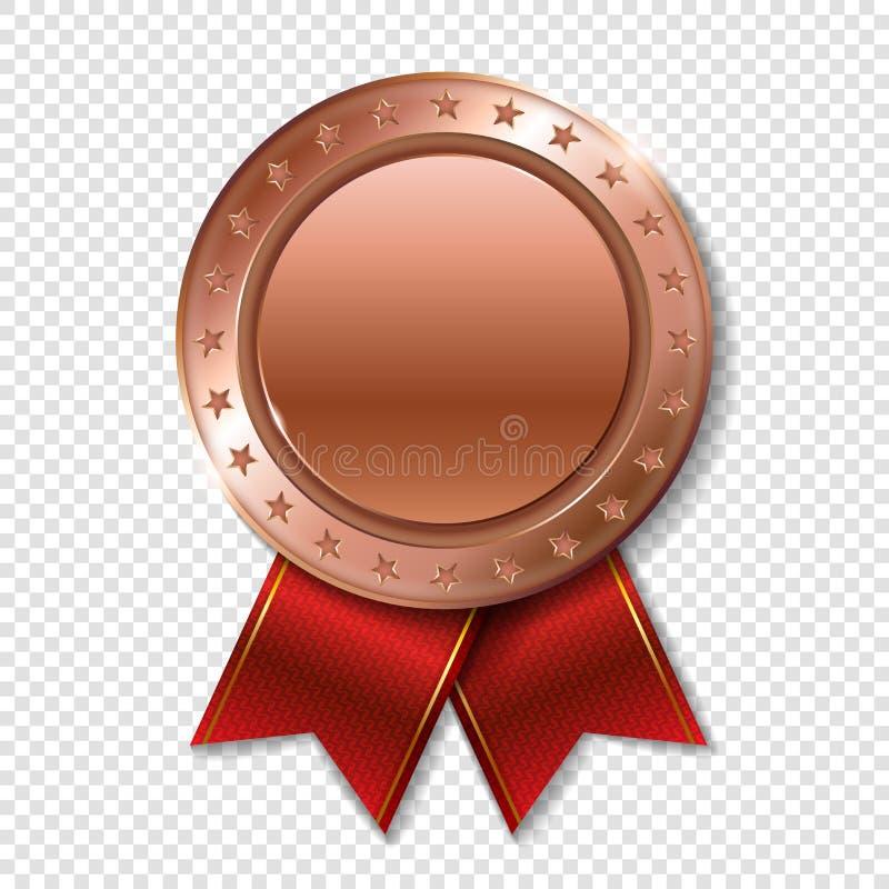 优胜者的现实3d bronz战利品冠军奖奖牌 库存例证