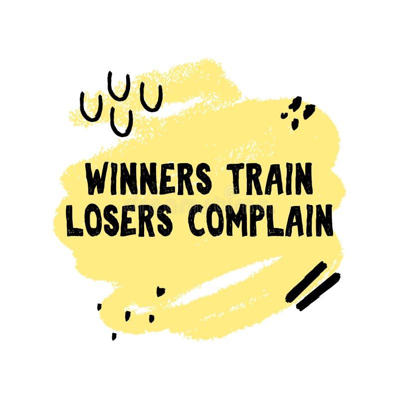 优胜者训练失败者抱怨手工制造难看的东西样式行情 皇族释放例证