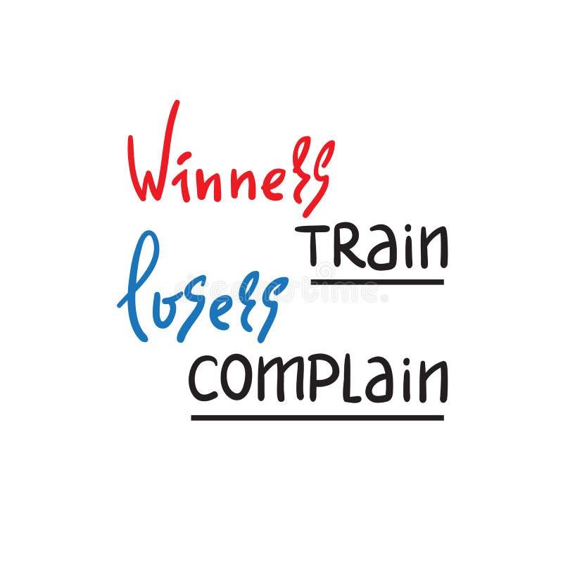 优胜者训练失败者抱怨-启发和诱导行情 手拉的美好的字法 皇族释放例证