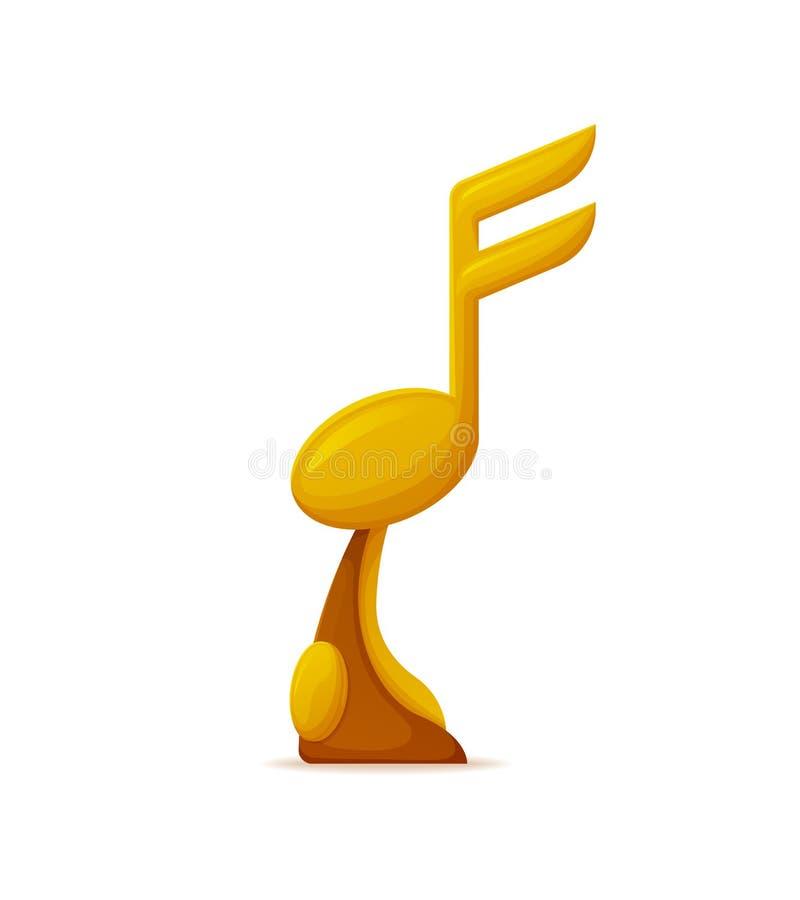 优胜者金黄奖,合理的光滑的得奖的传染媒介 向量例证