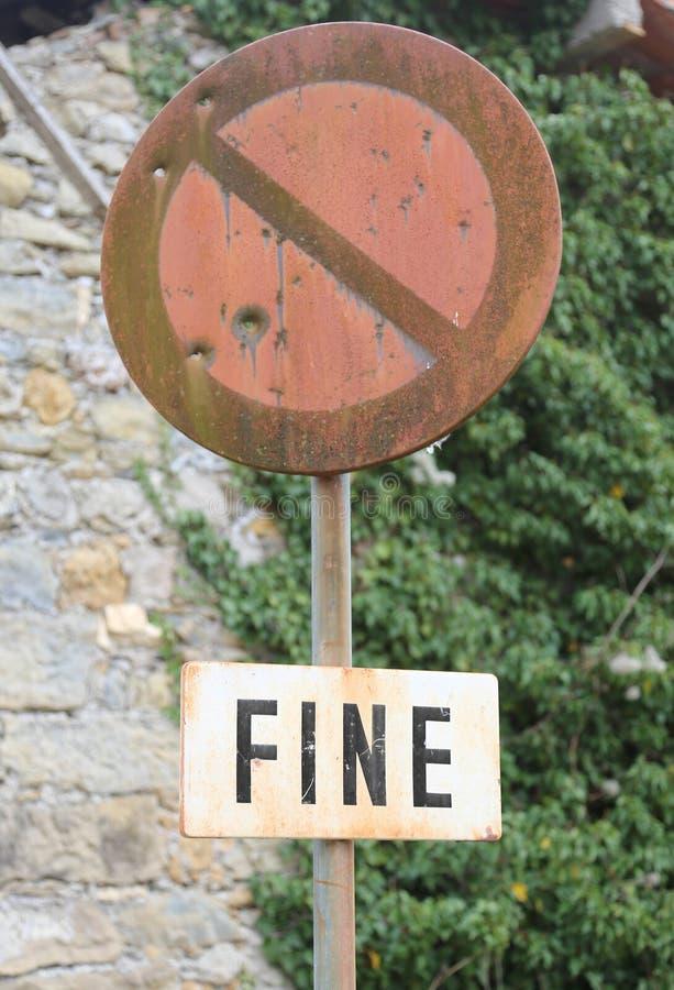 优良发短信手段在意大利语结束在一个残破的禁令 免版税库存照片