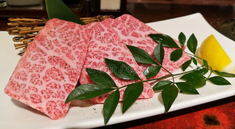 优质传奇最高级的神户matsusaka日本人牛肉 图库摄影
