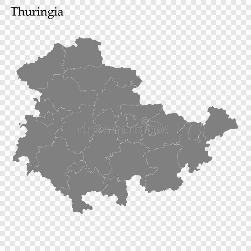 优质地图是德国的状态 库存例证