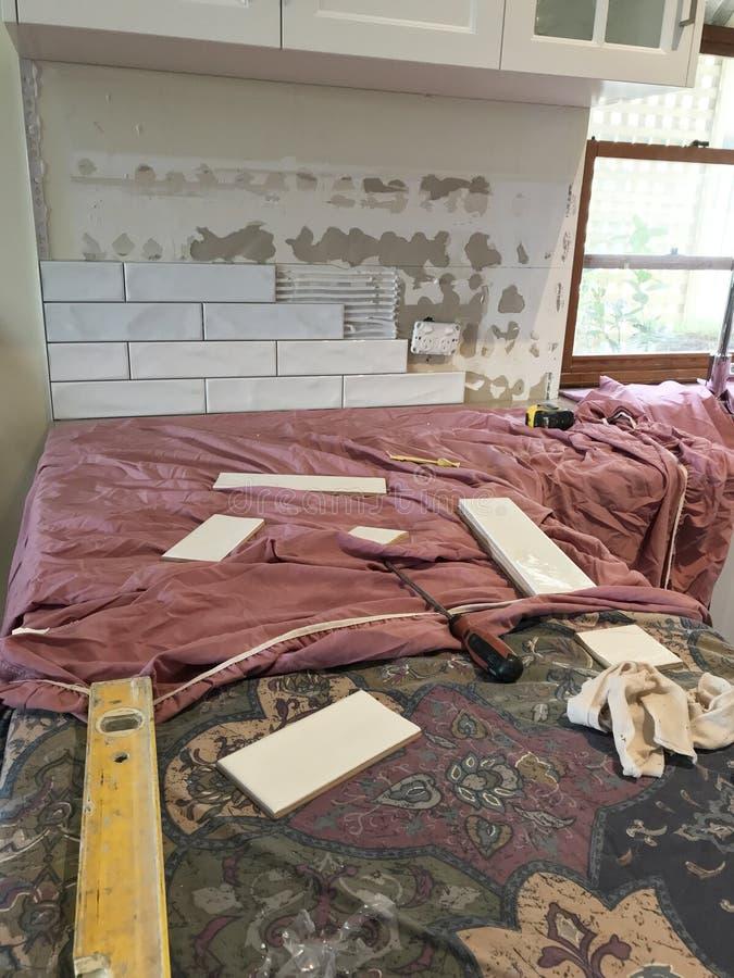 优质广泛的厨房整修 库存照片