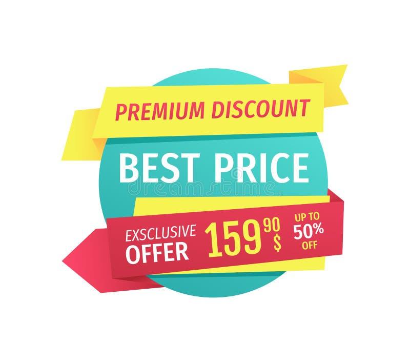 优质折扣最佳的价格传染媒介例证 向量例证