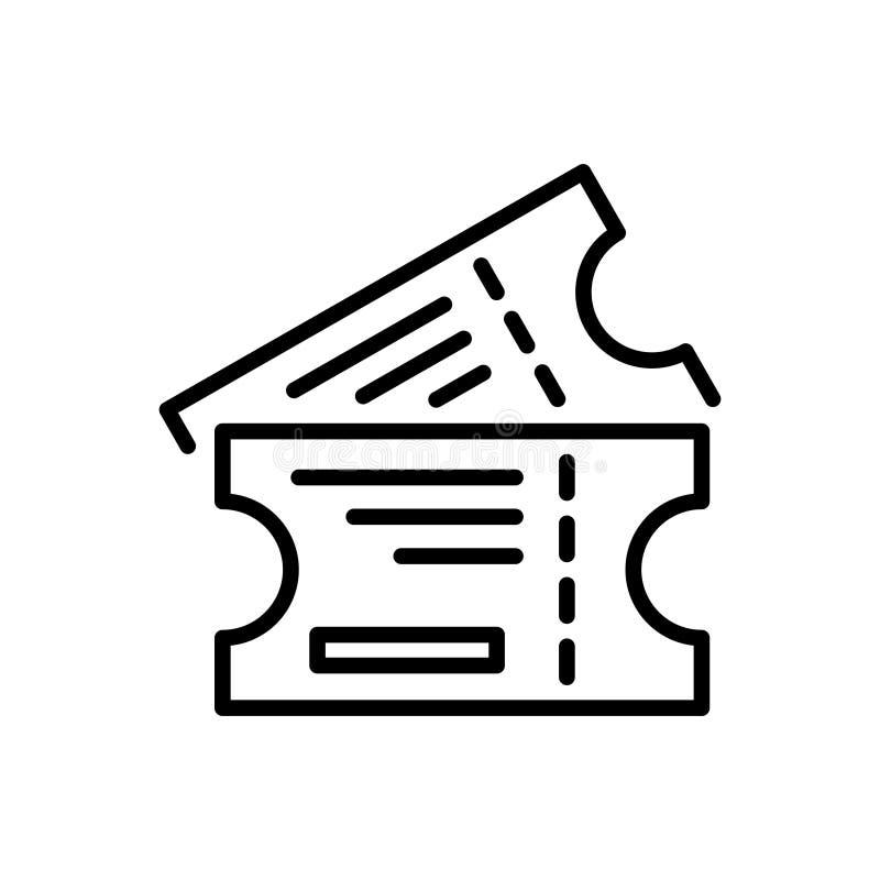 优质票象或商标在线型 向量例证