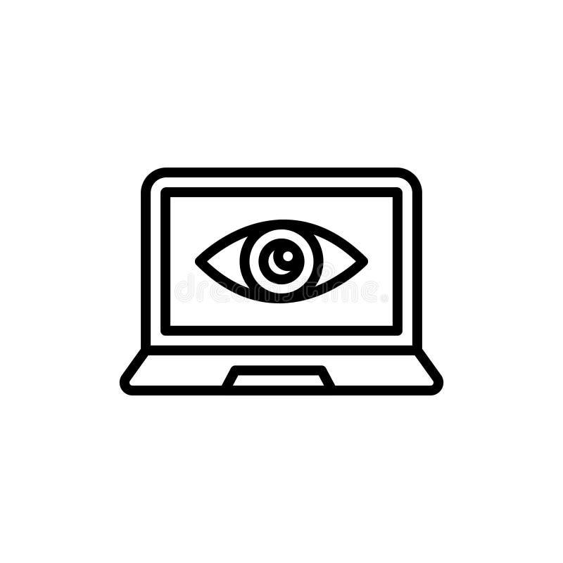 优质观察和监视象或者商标在线型 向量例证