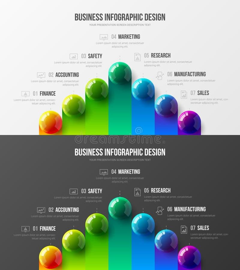 优质质量营销逻辑分析方法介绍传染媒介例证模板 企业数据形象化创造性的设计版面 向量例证