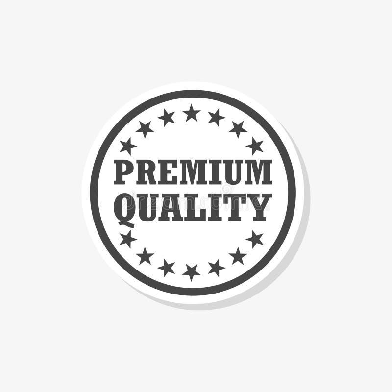 优质质量贴纸,优质质量标签,简单的传染媒介象 向量例证