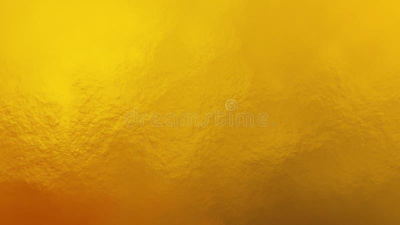 优质金金属纹理 库存图片