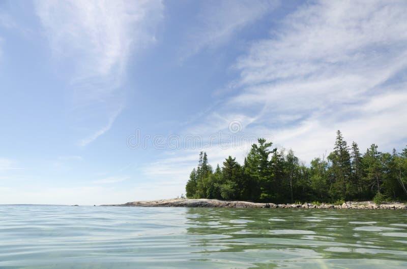 优越湖 库存照片