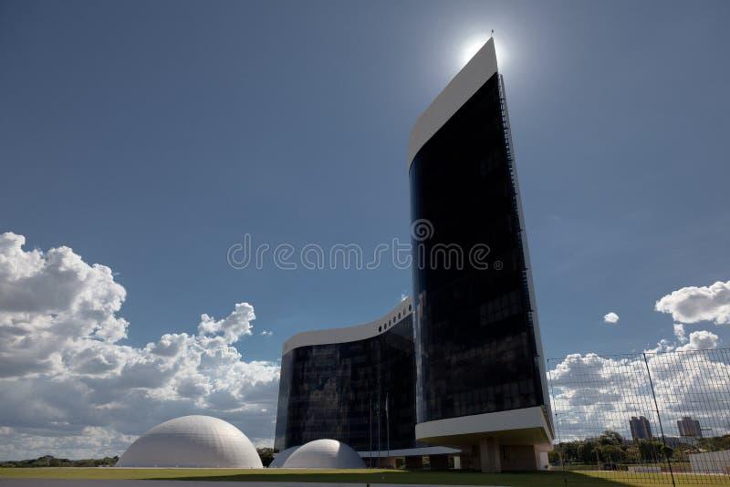 优越选举法院在巴西利亚 库存图片
